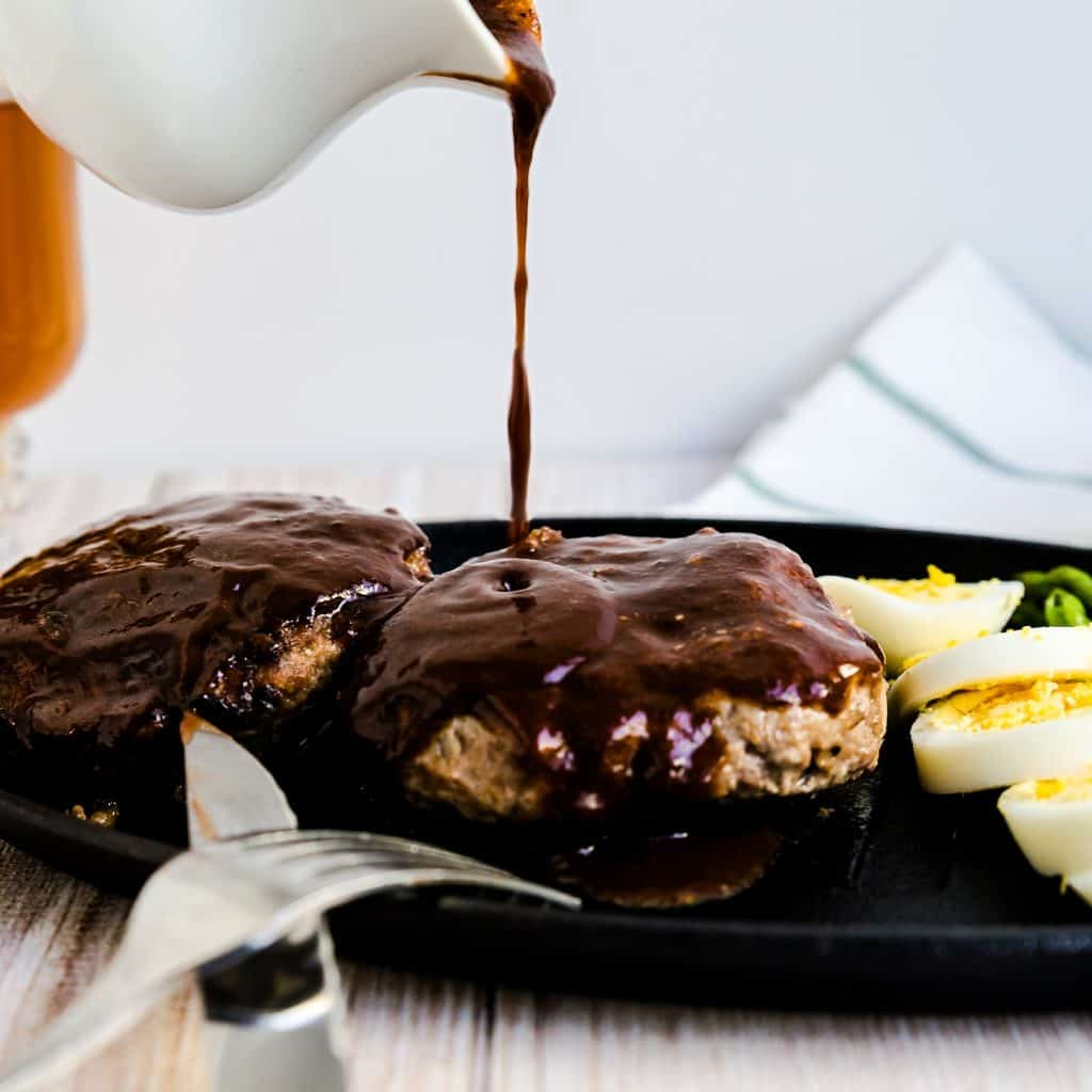 Japanese Style Hamburger Steak with Asparagus LowCarbingAsian Pic 2