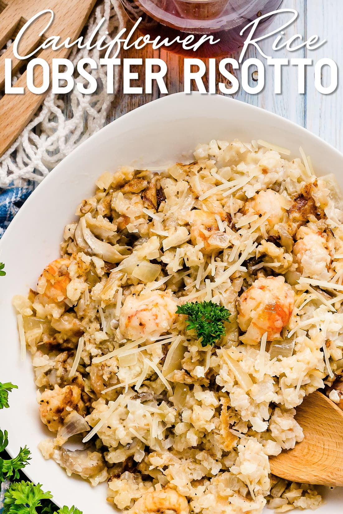 Keto Lobster Risotto Top Down