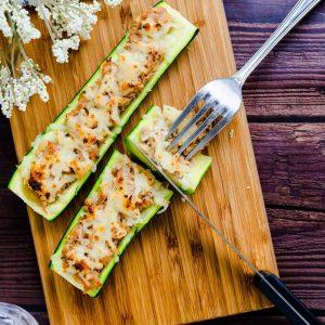 Miso Tuna Zucchini Boats LowCarbingAsian Cover