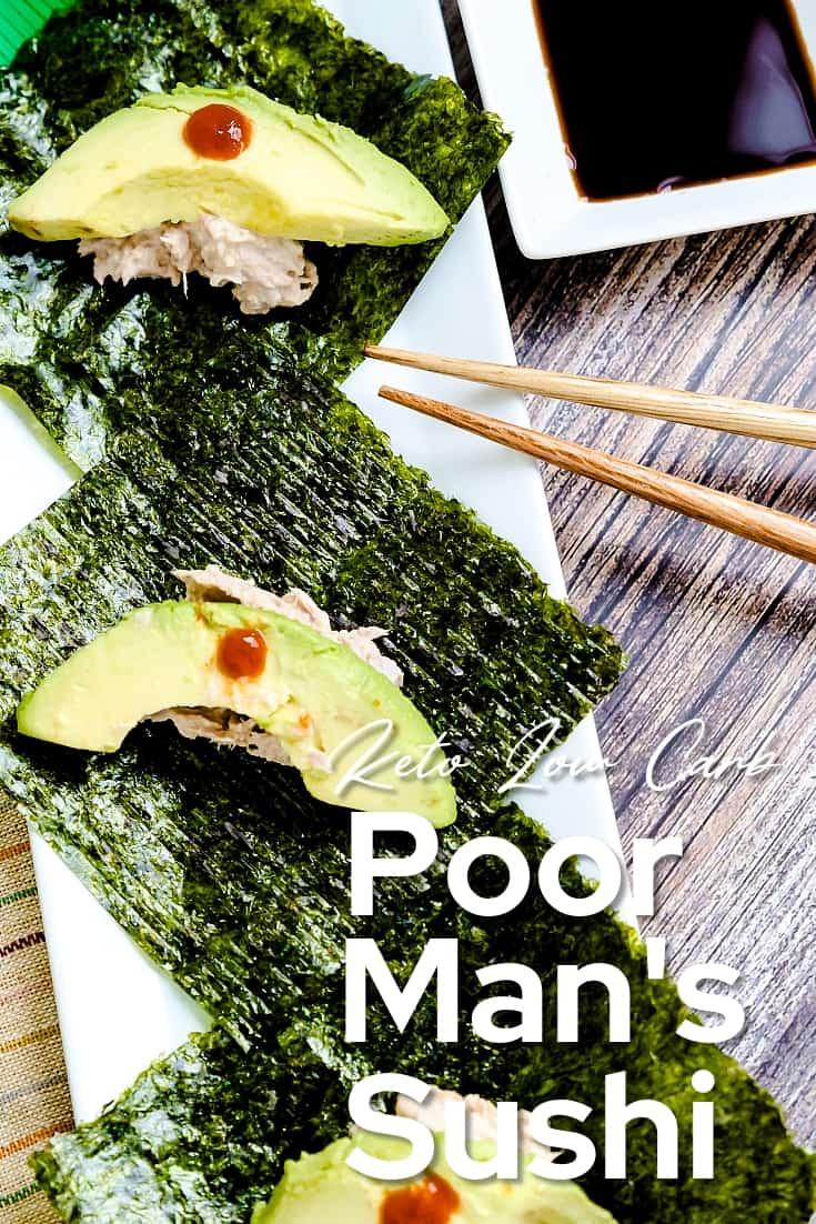Poor Man's Sushi LowCarbingAsian Pin 2
