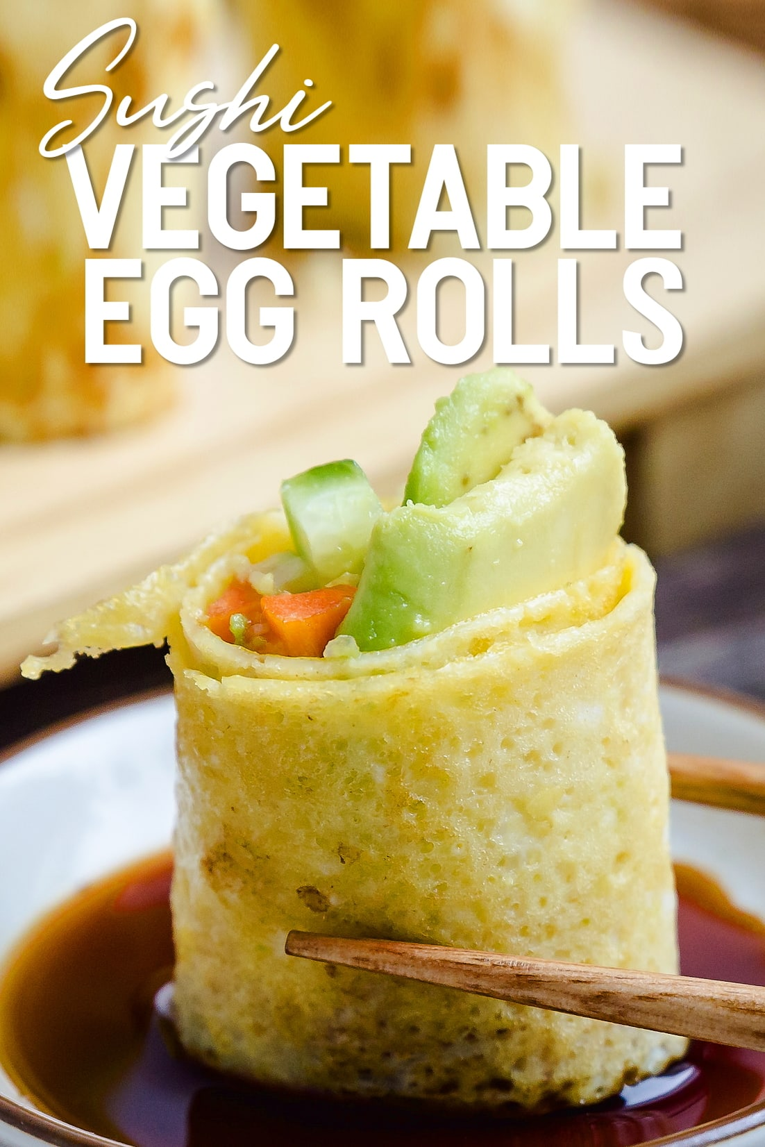 Sushi Vegetable Egg Roll Close Up