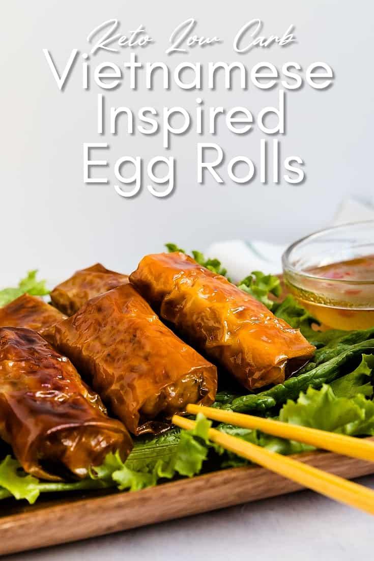 Vietnamese Inspired Bite Size Egg Rolls LowCarbingAsian Pin 2