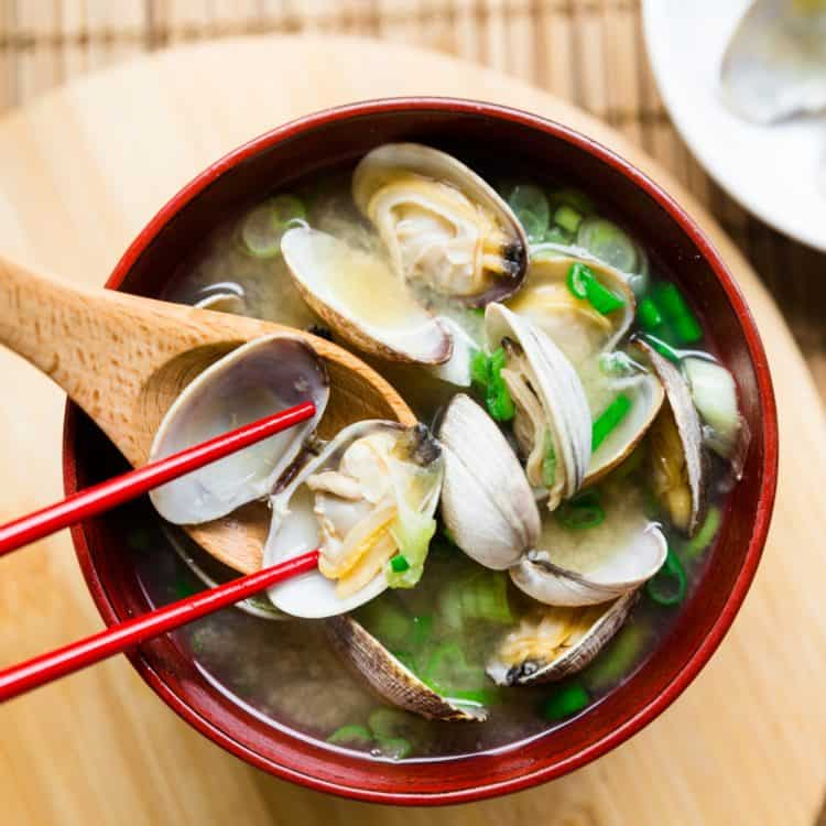 keto Japanese Asari Clam Miso Soup cover