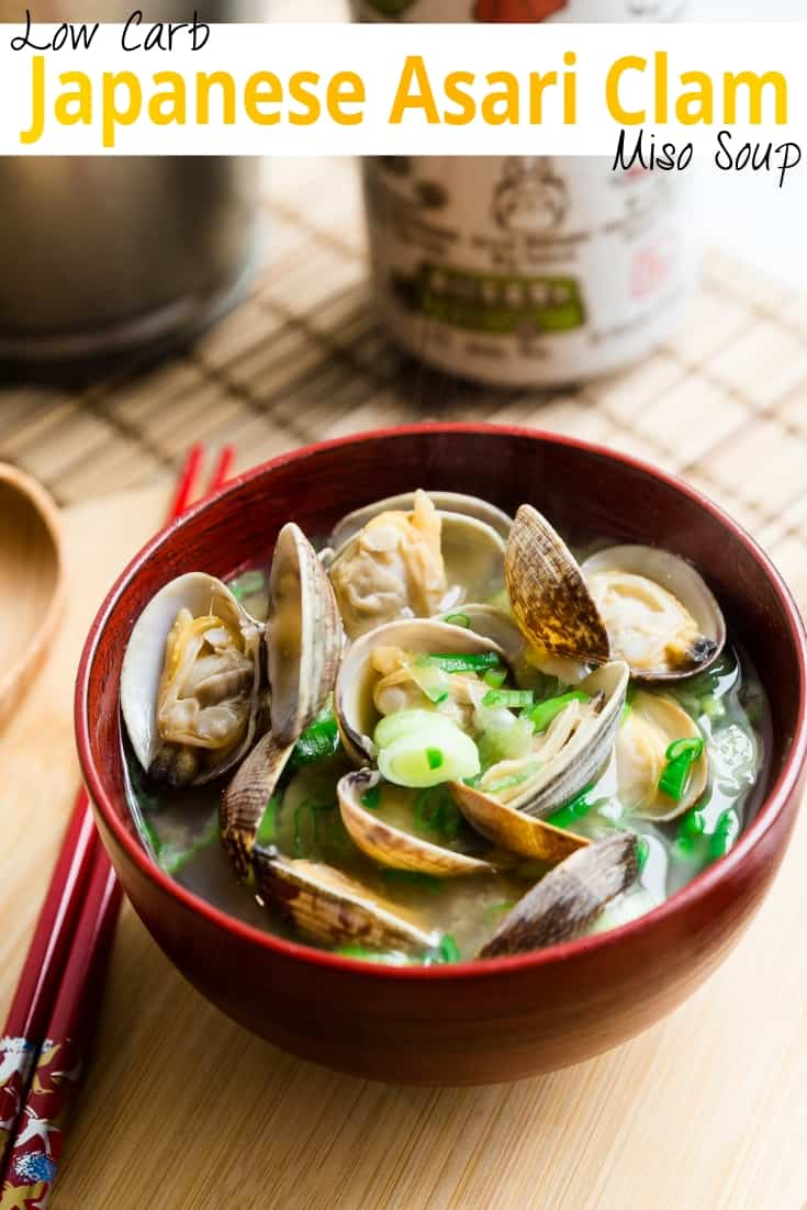 keto Japanese Asari Clam Miso Soup pin 1