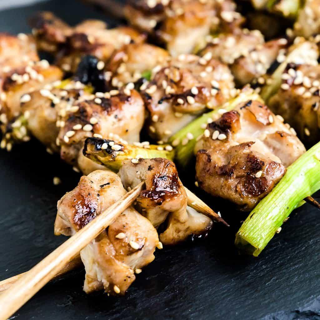 Japanese Chicken Skewers - Yakitori Negima LowCarbingAsian Pic 1