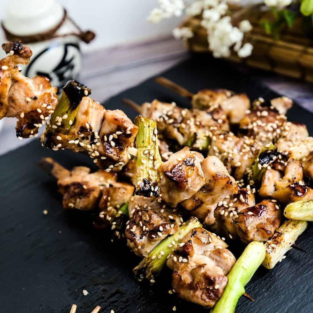 Japanese Chicken Skewers - Yakitori Negima LowCarbingAsian Pic 2