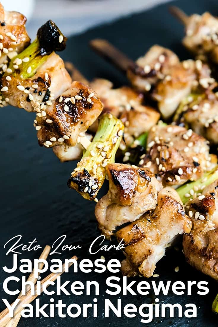 Japanese Chicken Skewers - Yakitori Negima LowCarbingAsian Pin 2