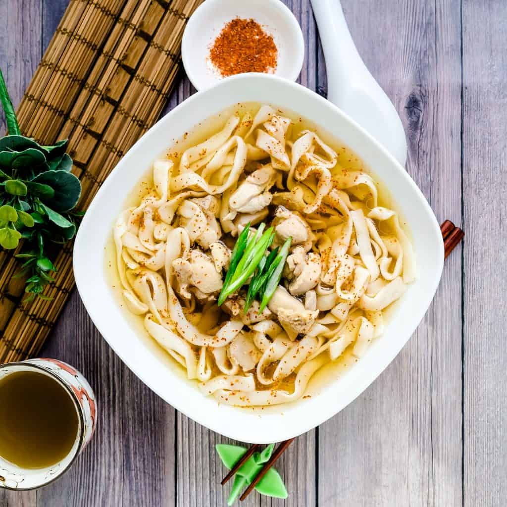 Japanese Chicken Udon with Shirataki Noodles LowCarbingAsian Pic 1