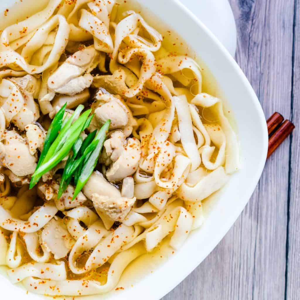 Japanese Chicken Udon with Shirataki Noodles LowCarbingAsian Pic 2