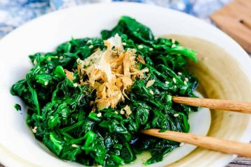 Japanese Spinach Salad LowCarbingAsian Cover