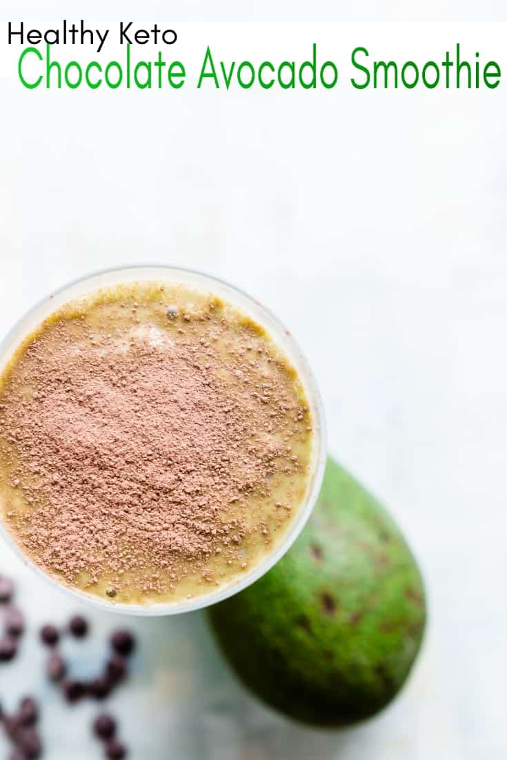 Keto Avocado Chocolate Smoothie Pin 1