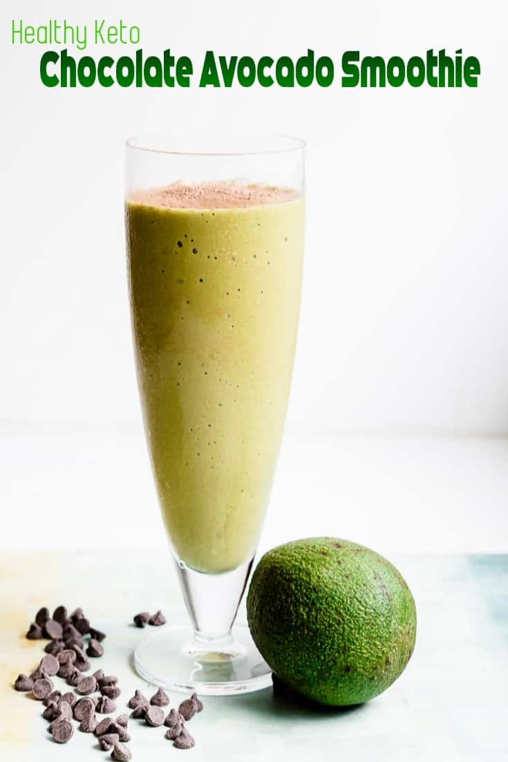 Keto Avocado Chocolate Smoothie Pin 2