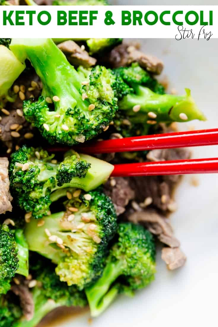 Keto Beef n Broccoli Stir Fry Pin 1