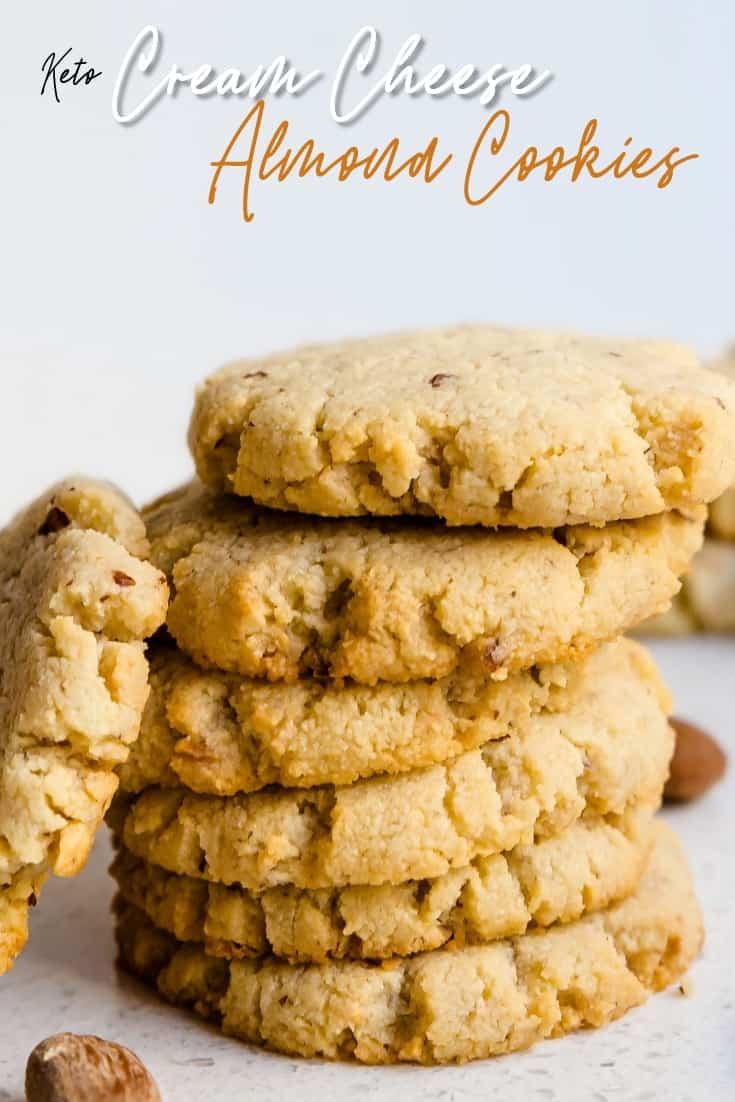 Keto Cream Cheese Almond Cookies Pin 1