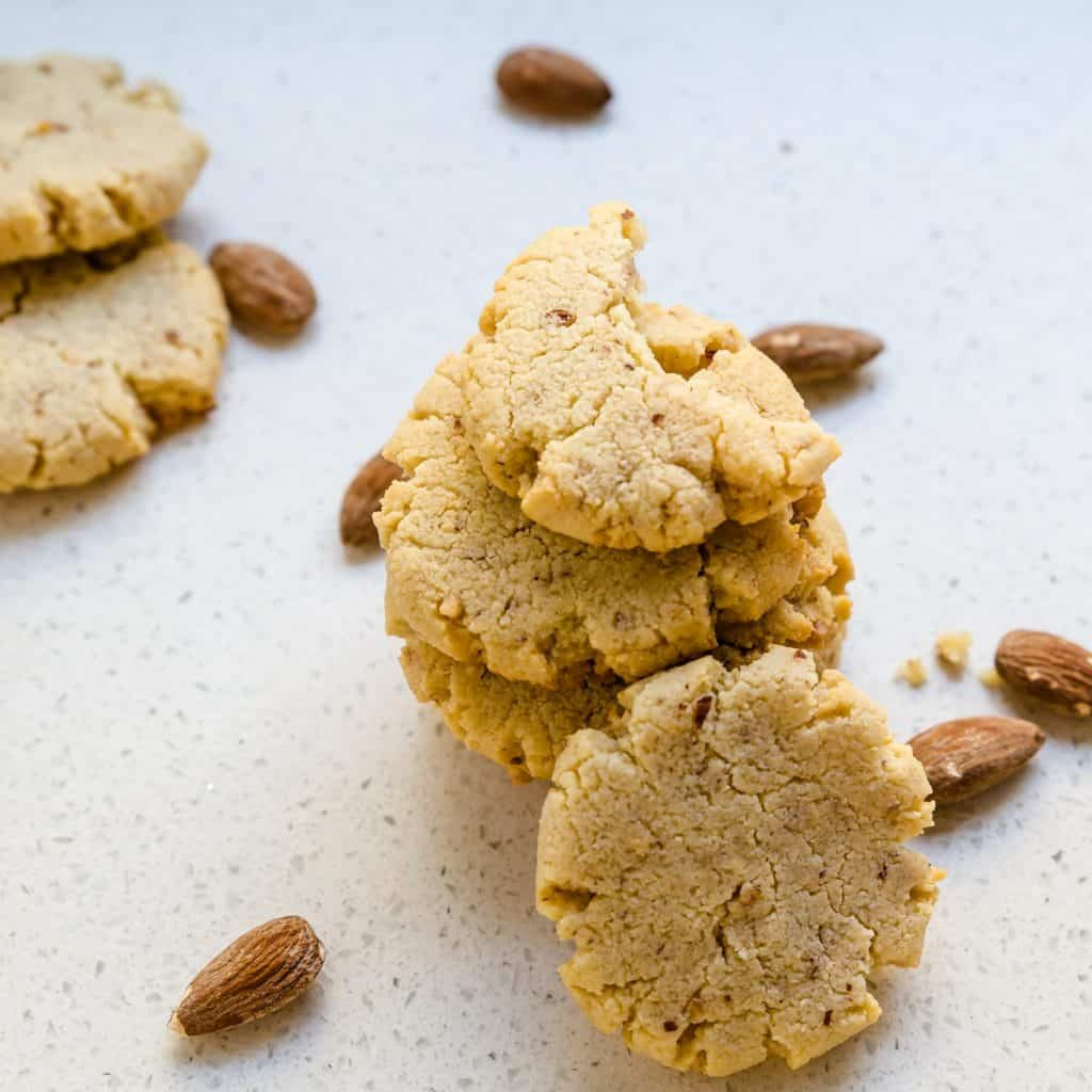 Keto Cream Cheese Almond Cookies Pin 2