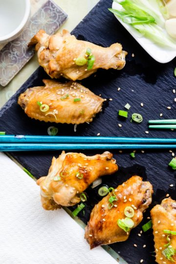 Keto Garlic Miso Chicken Wings Tebasaki LowCarbingAsian Cover