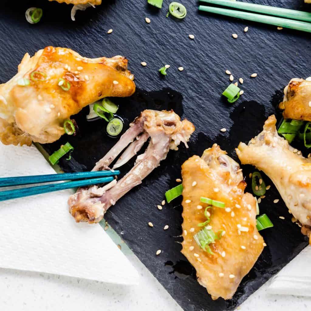 Keto Garlic Miso Chicken Wings Tebasaki LowCarbingAsian Pic 2