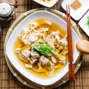 Keto Japanese Chicken Udon with Shirataki Noodles Cover
