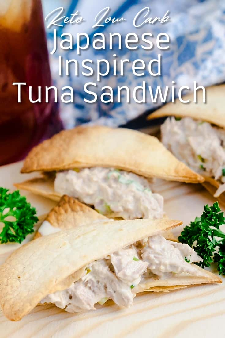 Keto Low Carb Japanese Inspired Tuna Sandwich