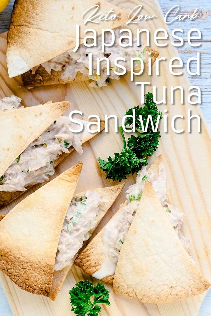 Keto Low Carb Japanese Inspired Tuna Sandwich