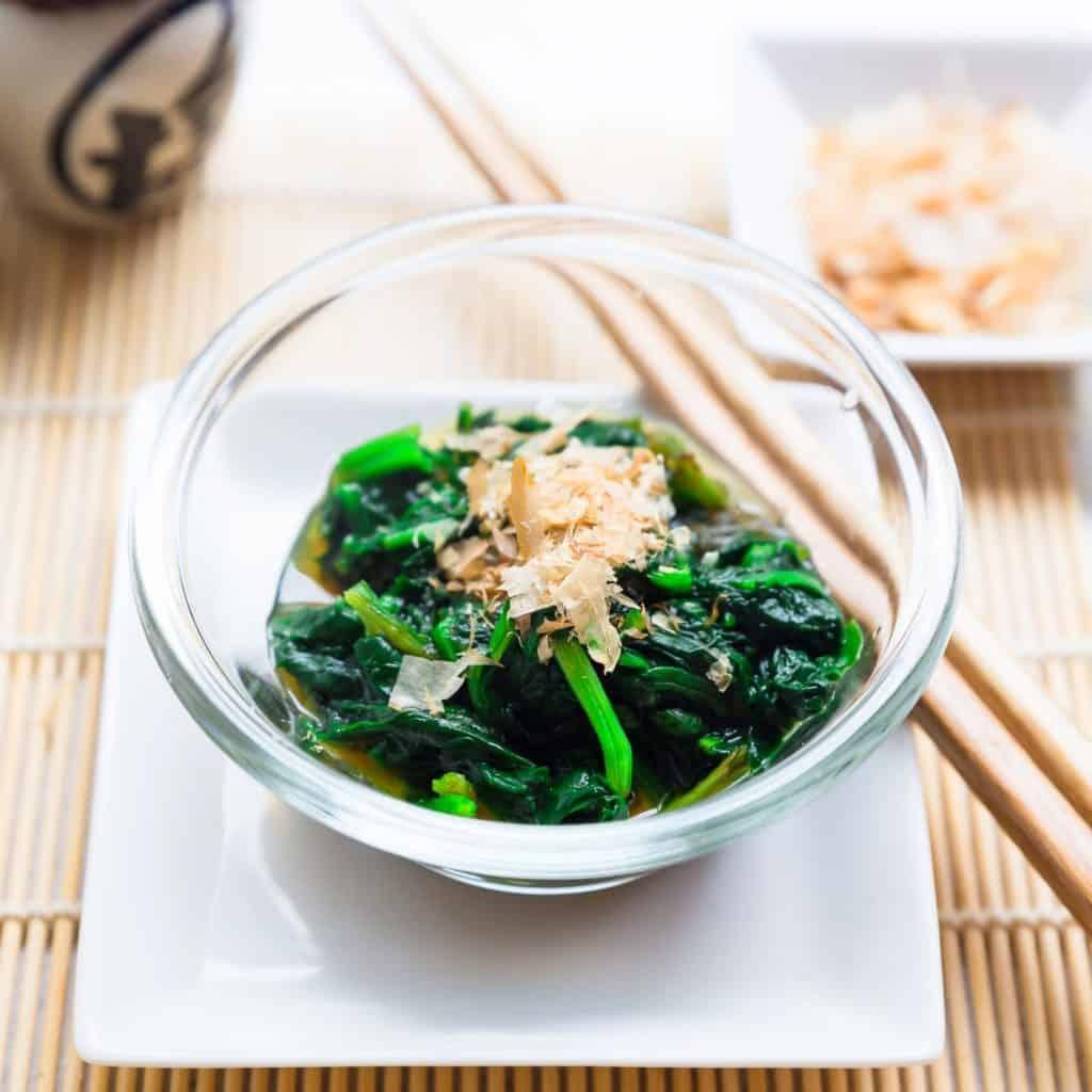 Keto Japanese Spinach Salad pic