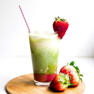 Keto Strawberry Matcha Latte Cover