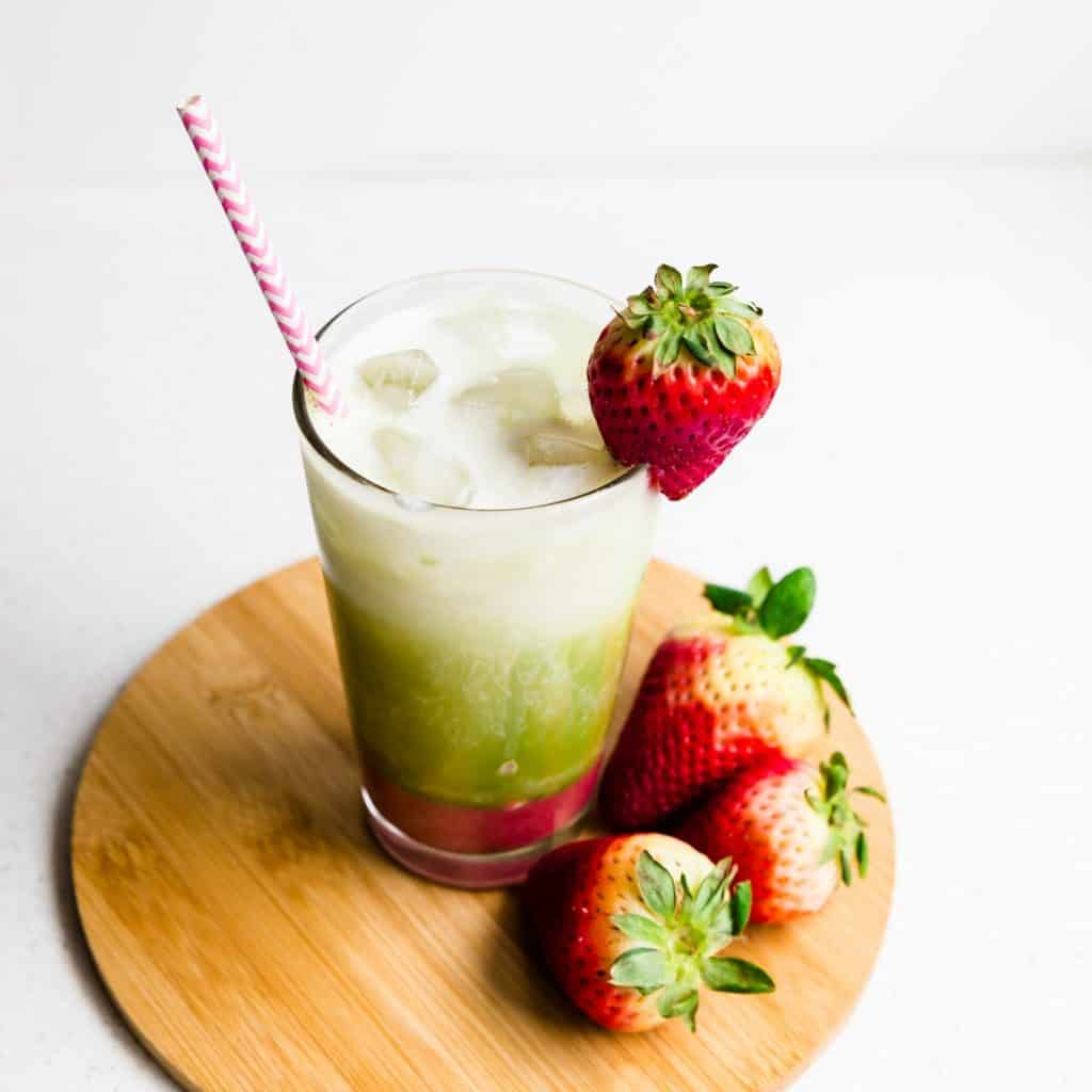 Keto Strawberry Matcha Latte Pic 2