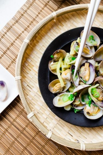 Low Carb Japanese Style Steamed Clams cover