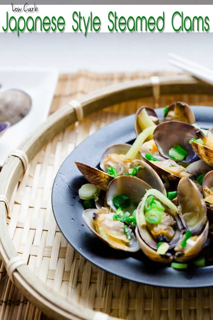 Low Carb Japanese Style Steamed Clams pin 2