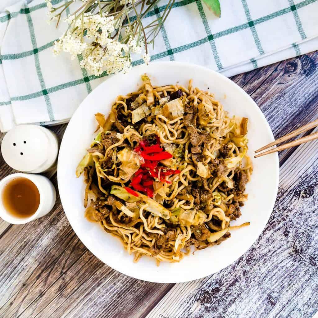 Low Carb Stir Fry Noodles Yakisoba LowCarbingAsian Pic 1