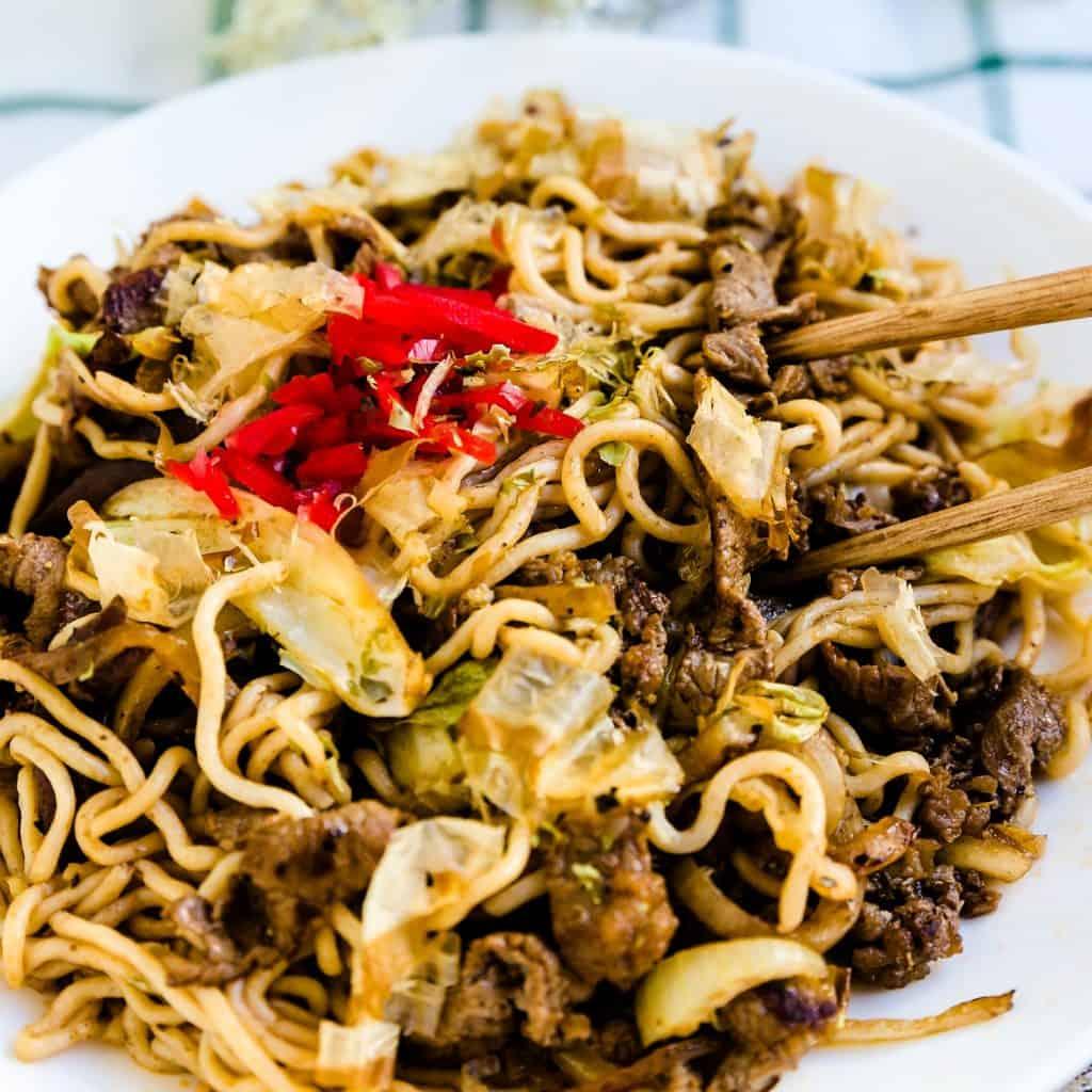 Low Carb Stir Fry Noodles Yakisoba LowCarbingAsian Pic 2