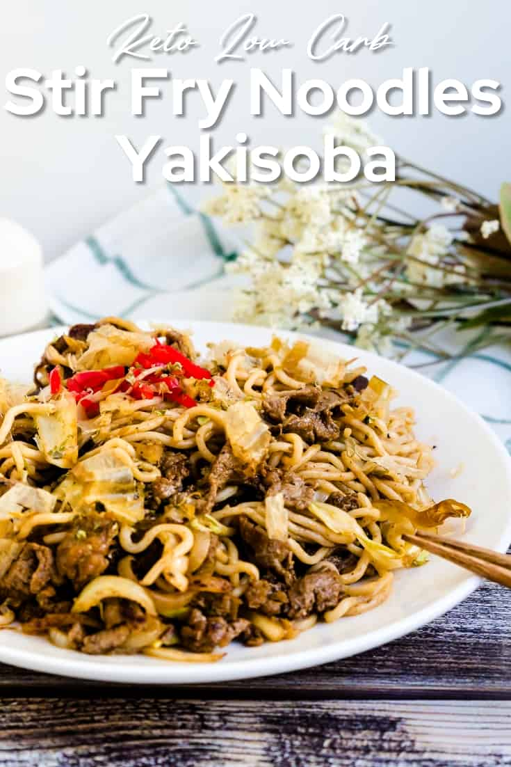 Low Carb Stir Fry Noodles Yakisoba LowCarbingAsian Pin 1