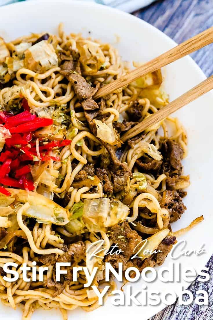 Low Carb Stir Fry Noodles Yakisoba LowCarbingAsian Pin 2