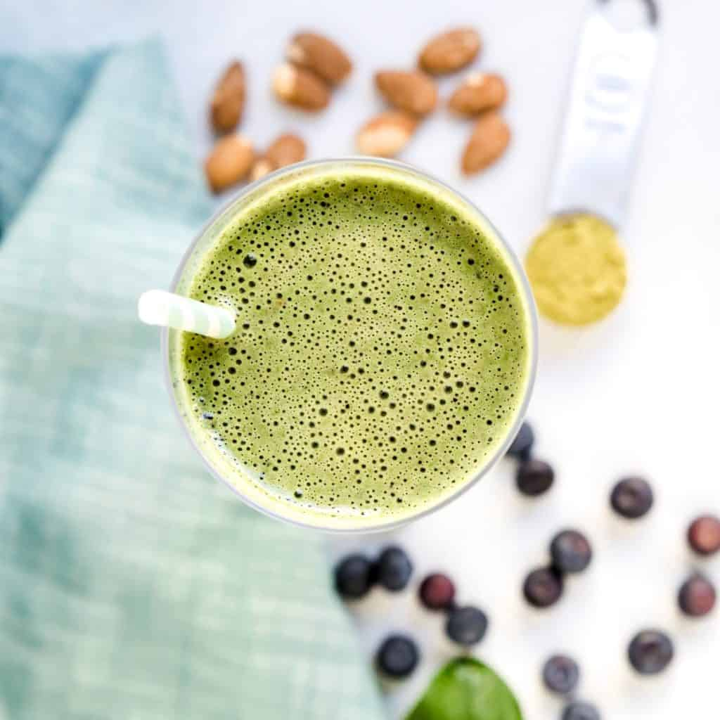 Matcha Green Energy Smoothie LowCarbingAsian Pic 2