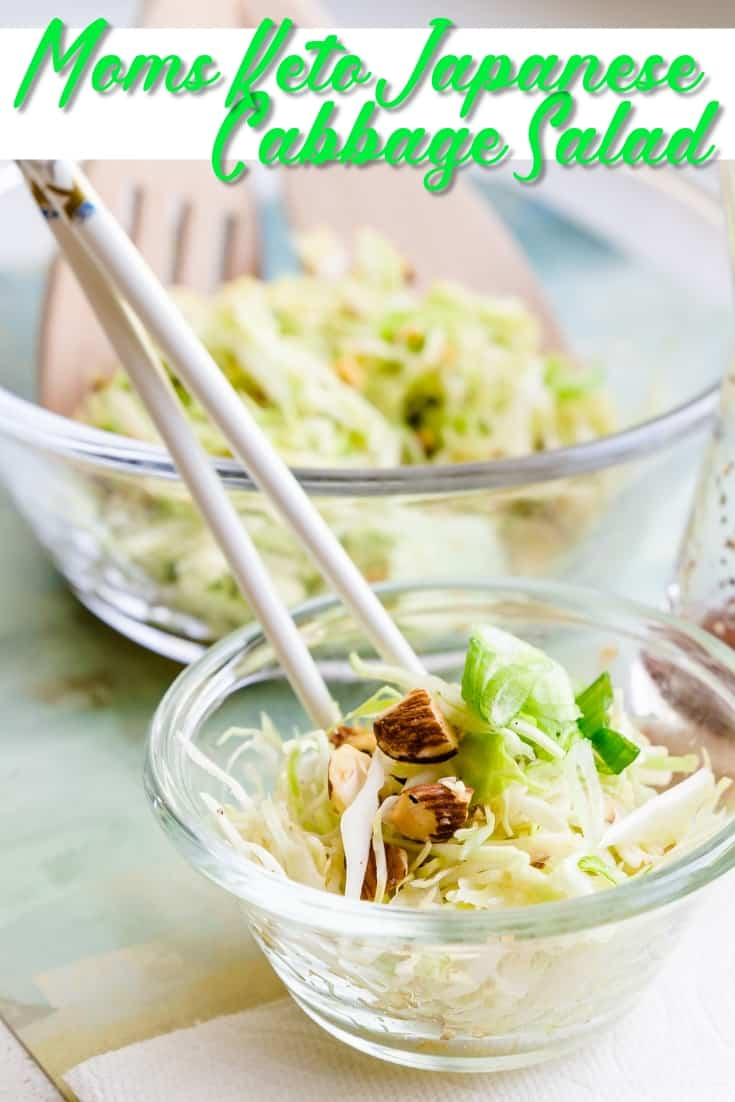 Mom's Keto Japanese Cabbage Salad Pin 1