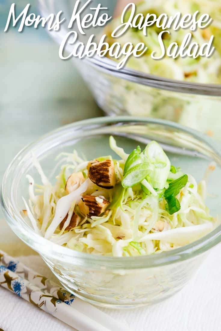 Mom's Keto Japanese Cabbage Salad pin 2