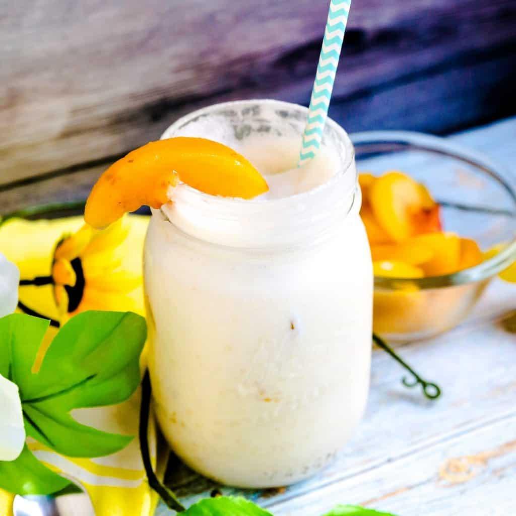Peaches n' Cream Smoothie LowCarbingAsian Pic 2