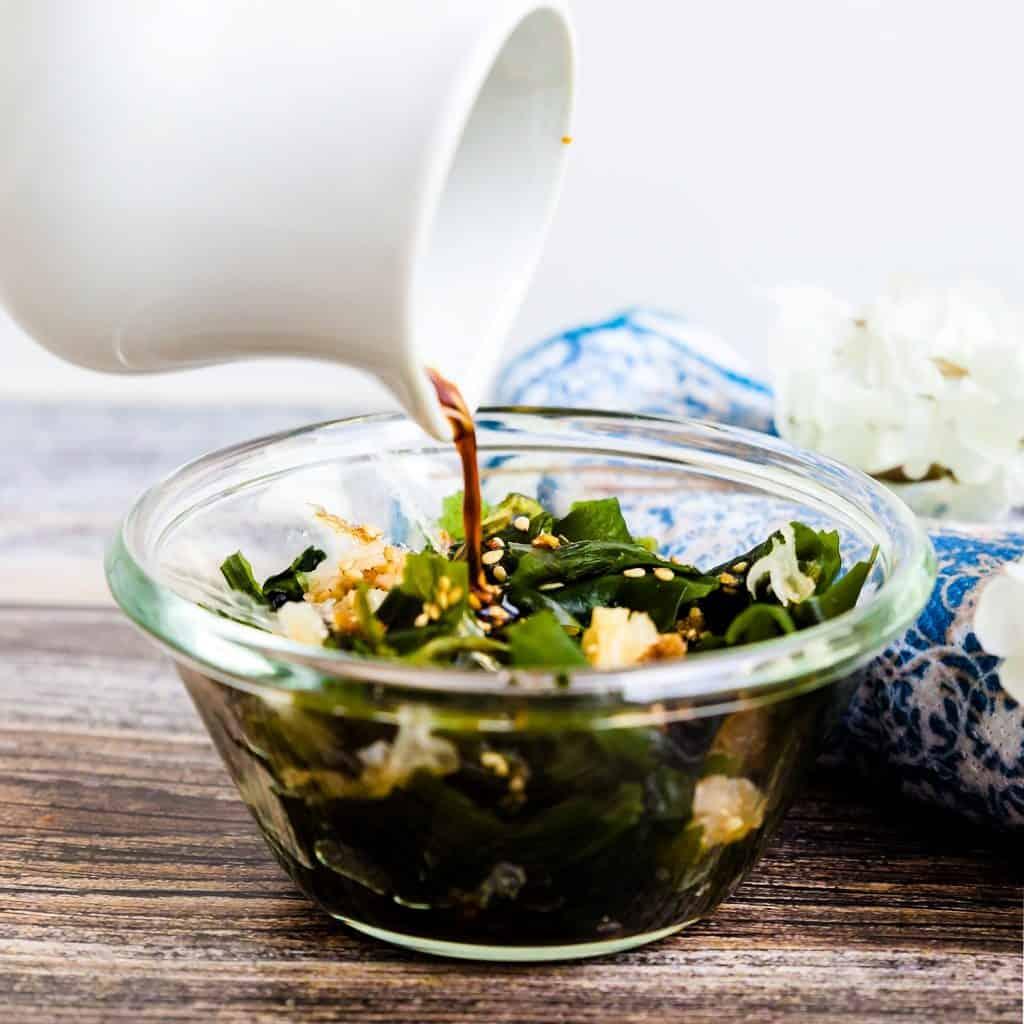 Seaweed Salad - Hiyashi Wakame LowCarbingAsian Pic 1