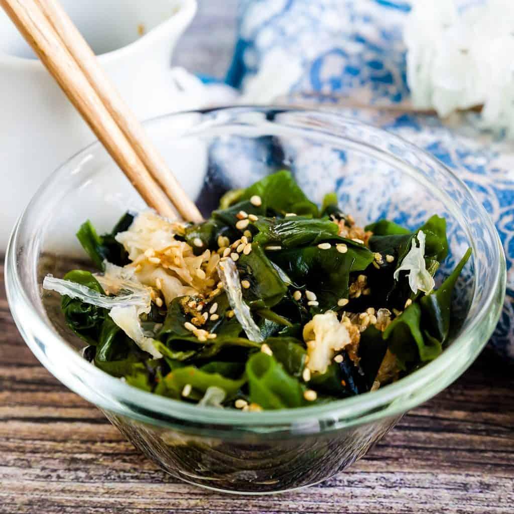 Seaweed Salad - Hiyashi Wakame LowCarbingAsian Pic 2