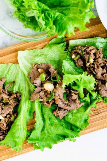 Beef Lettuce Wraps LowCarbingAsian Cover