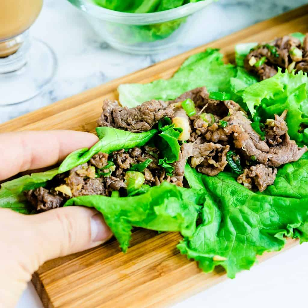 Beef Lettuce Wraps LowCarbingAsian Pic 1