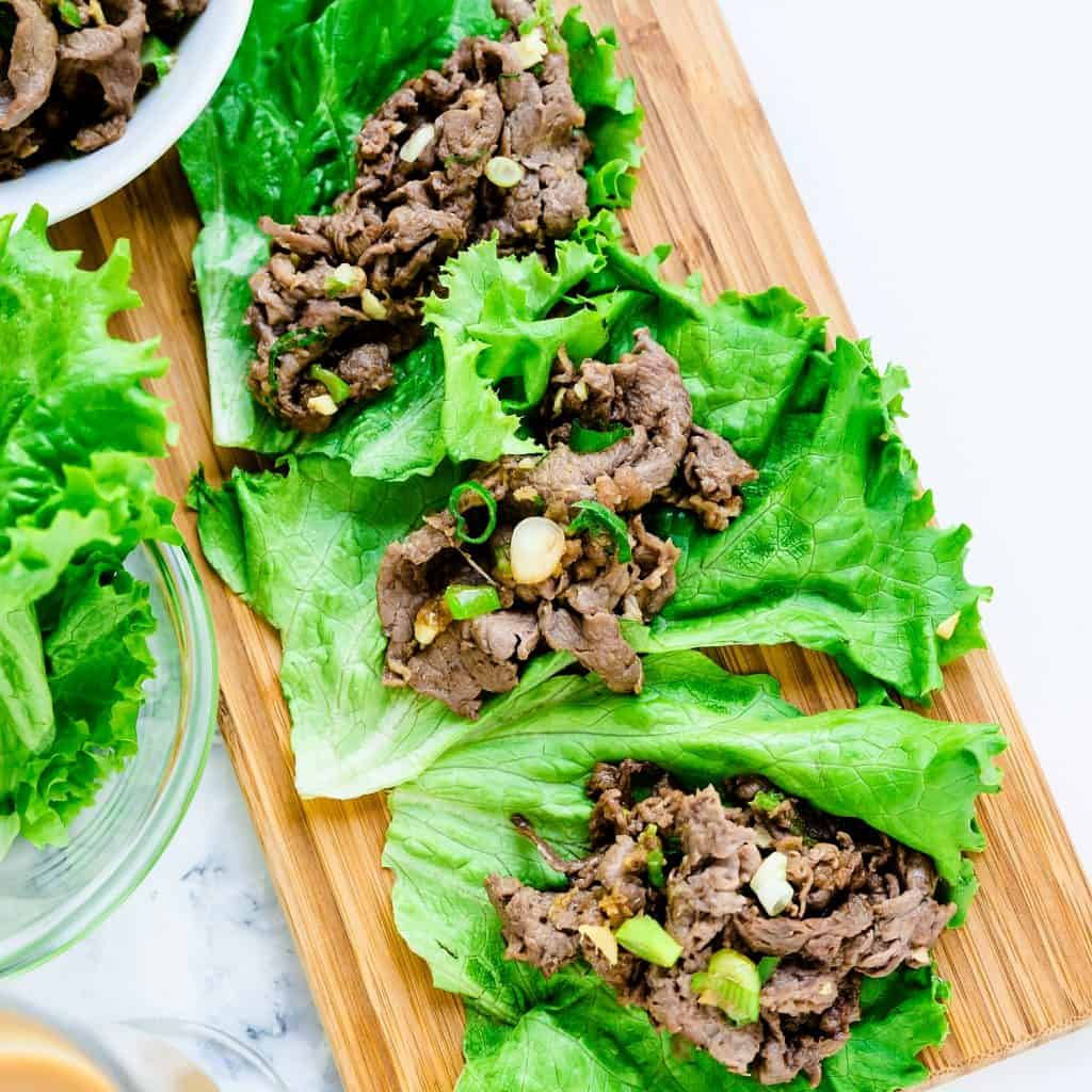 Beef Lettuce Wraps LowCarbingAsian Pic 2