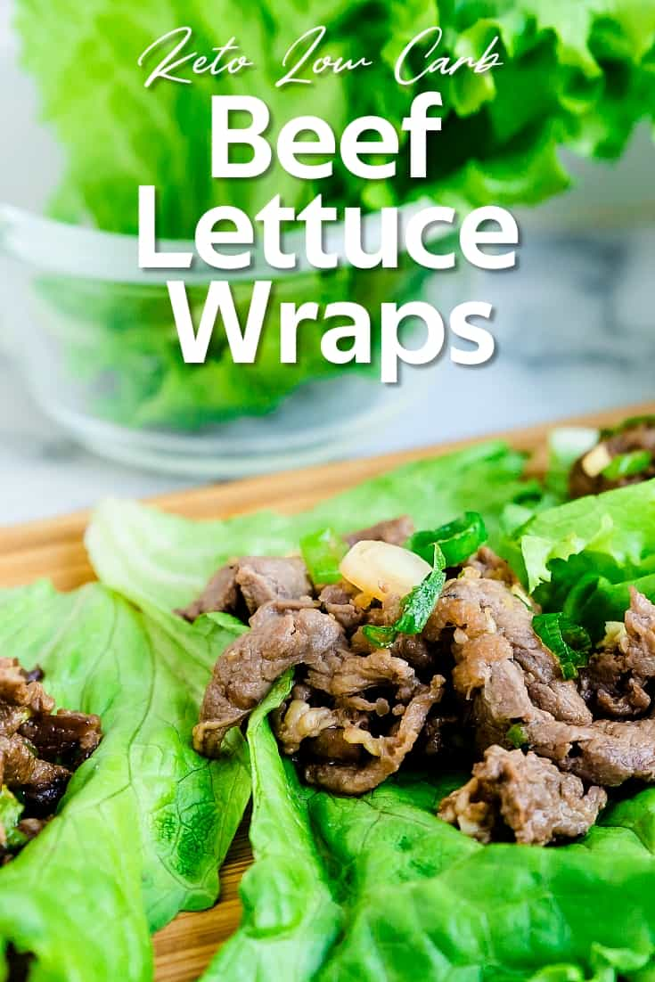 Keto Low Carb Beef Lettuce Wraps