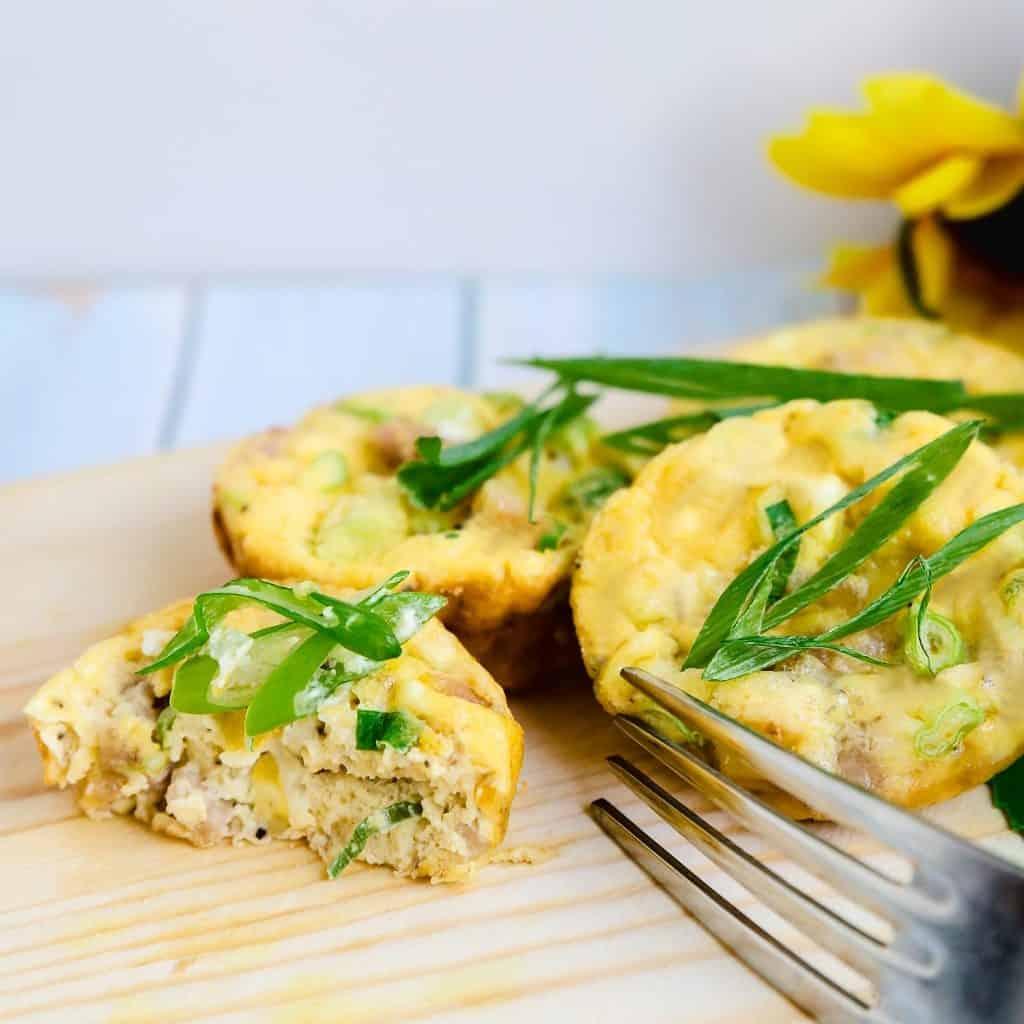 Cream Cheese Breakfast Egg Bites LowCarbingAsian Pic 1