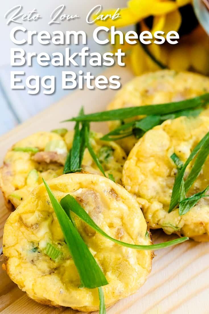 Cream Cheese Breakfast Egg Bites