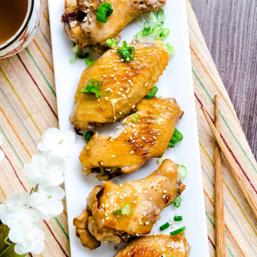 Garlic Miso Chicken Wings LowCarbingAsian Pic 1