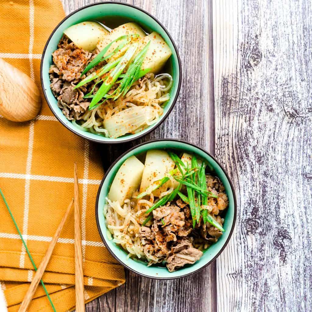 Japanese Sliced Beef Stew - Nikujaga LowCarbingAsian Pic 1