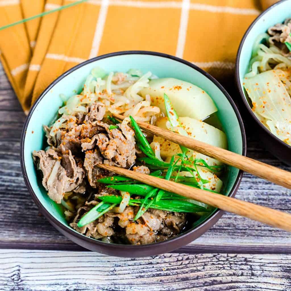 Japanese Sliced Beef Stew - Nikujaga LowCarbingAsian Pic 2