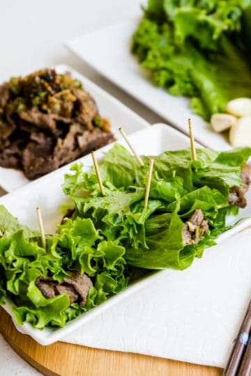 Keto Beef Lettuce Hand Rolls LowCarbingAsianCover