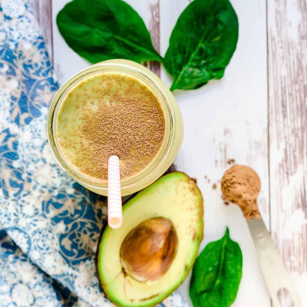 Keto Chocolate Avocado Smoothie LowCarbingAsian Pic 1